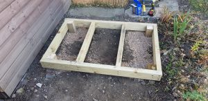 howto put up a garden shed