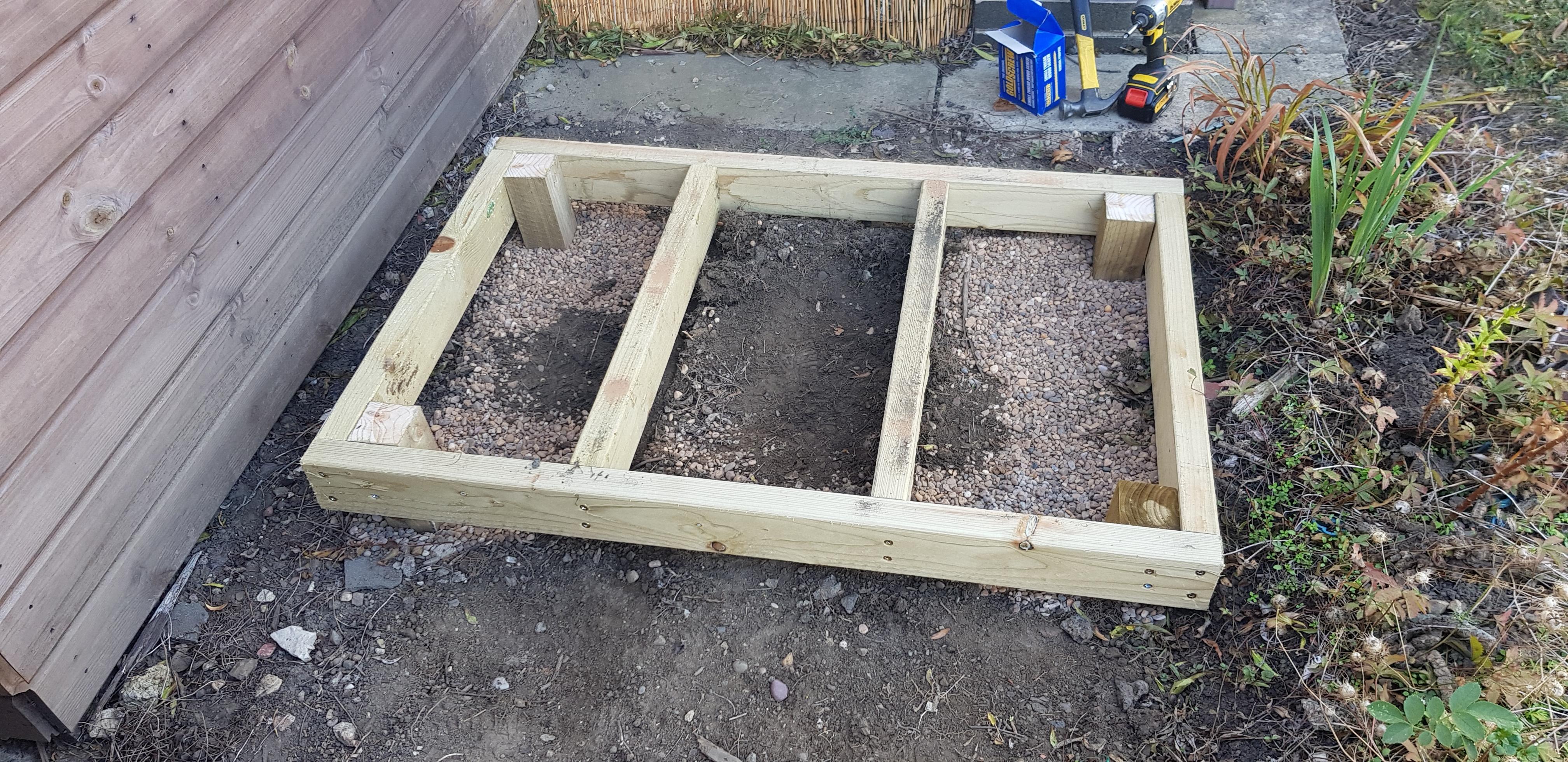wooden shed base