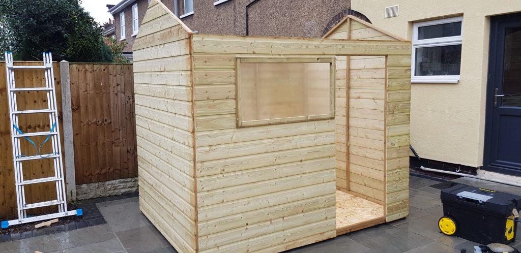 installing garden shed