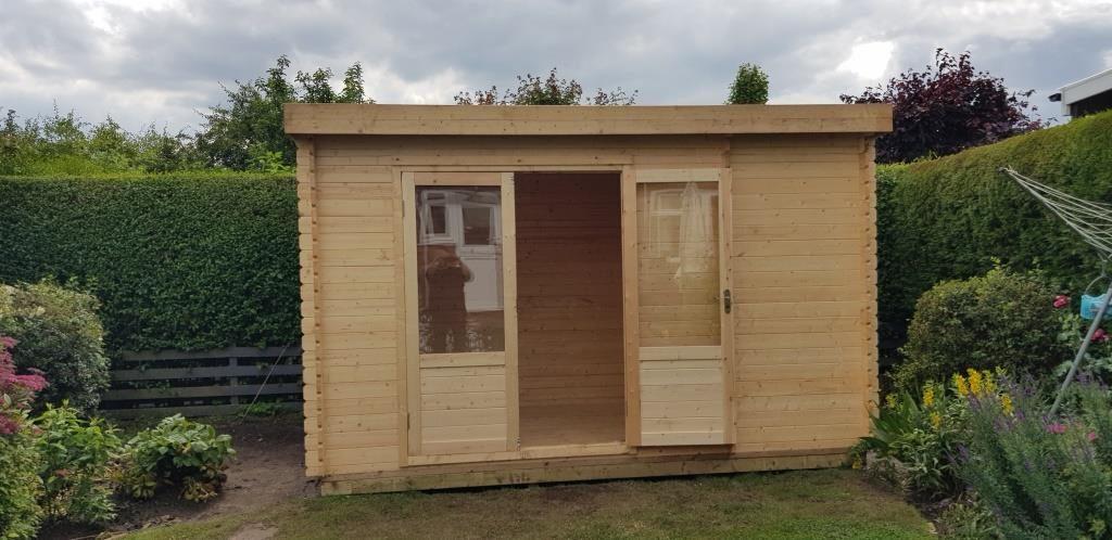 zen log cabin Tadcaster York Installation